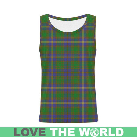 Strange Of Balkaskie Tartan All Over Print Tank Top Nl25 Xs / Men Tops
