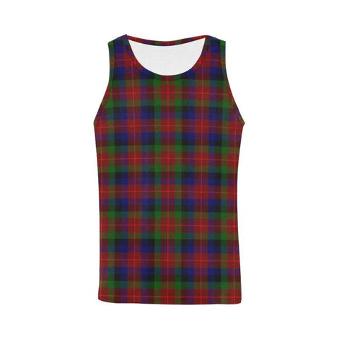 Tennant Tartan All Over Print Tank Top Nl25 Xs / Men Tops