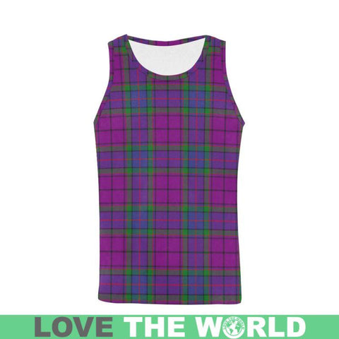 Image of Wardlaw Tartan All Over Print Tank Top Nl25 Xs / Tartan All Over Print Tank Top For Men (Model T43)