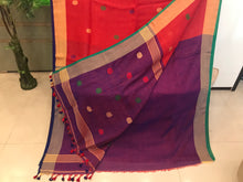 Load image into Gallery viewer, Beautiful Bengal Saree - Cotton Linen Saree With Blouse Piece