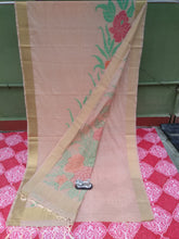 Load image into Gallery viewer, Beautiful Bengal Saree - Linen By Tosor Saree With Blouse Piece