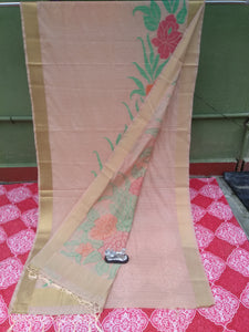 Beautiful Bengal Saree - Linen By Tosor Saree With Blouse Piece
