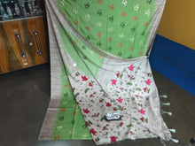 Load image into Gallery viewer, handloom thread work designer saree with blouse piece