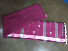 Load image into Gallery viewer, Handloom Khadi Cotton Saree With Blouse Piece