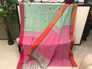 100% Cotton Saree With Blouse Piece
