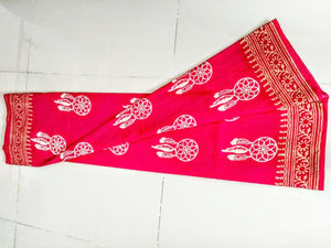Mul Mul Cotton Saree With Blouse Piece