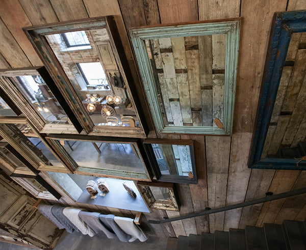Reclaimed antique mirrors