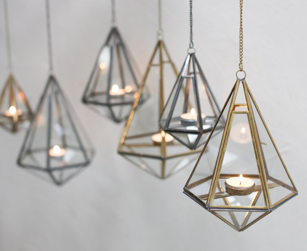 Brass and Zinc Metal hanging lanterns