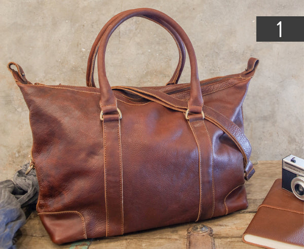 Leather Badwa Weekend Bag