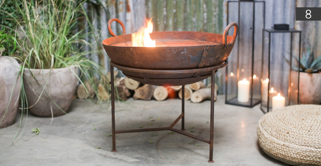 Reclaimed Iron Kadai With Grill