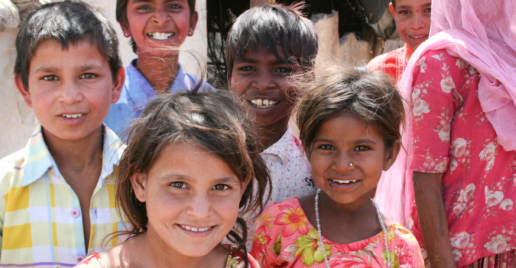 Group of Indian children smiling