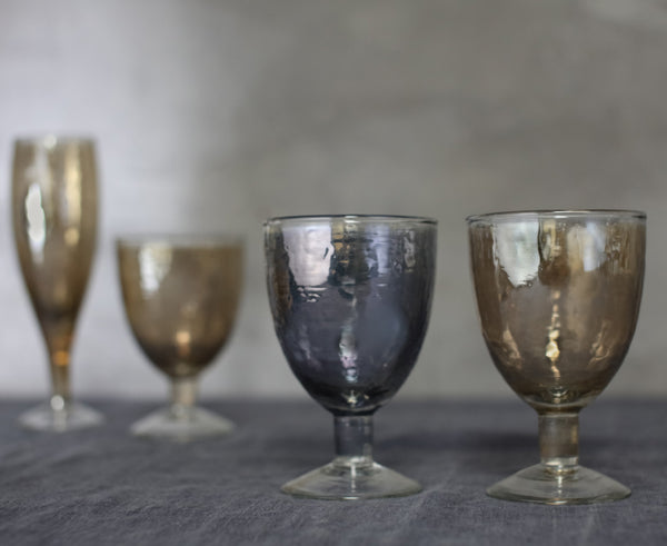 Smoke and bronze coloured glasses