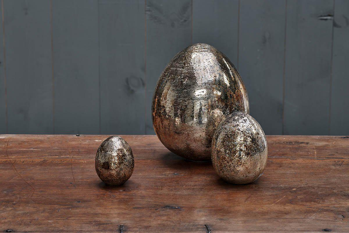 An image of Aban Decorative Rustic Egg - Rustic Gold - Decorative Accessories - Rustic Gold ...