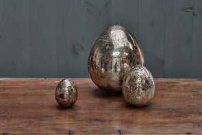 Nkuku DECORATIVE ACCESSORIES Aban Decorative Rustic Egg - Rustic Gold