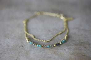 Nkuku JEWELLERY & ACCESSORIES Aja Lolite, Labradorite and Calcydone Bracelet
