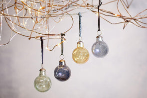 Nkuku CHRISTMAS DECORATIONS Alura Round Bauble