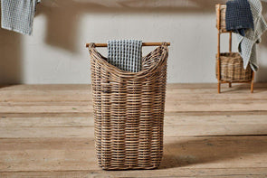 Nkuku BATHROOM Amandi Rattan Storage Basket
