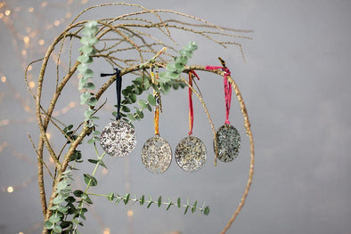 Nkuku CHRISTMAS DECORATIONS Antique Mirror Baubles - Round (Set of 4)