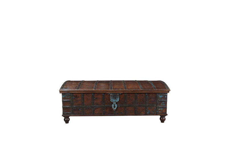 Nkuku INDIAN ANTIQUES FURNITURE Antique Wooden Chest
