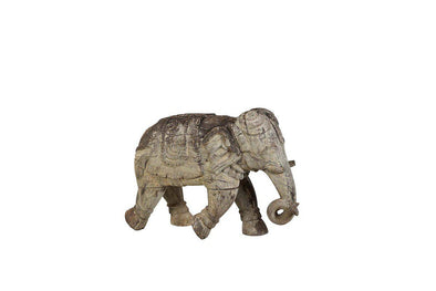 Nkuku INDIAN ANTIQUES DECORATIVE ACCESSORIES Antique Wooden Elephant