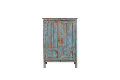 Nkuku INDIAN ANTIQUES FURNITURE Antique Wooden Freestanding Cabinet