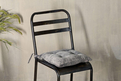 Nkuku CUSHIONS & THROWS Azti Seat Cushion - Washed Grey