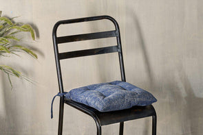 Nkuku CUSHIONS & THROWS Azti Seat Cushion - Washed Navy