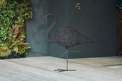 Nkuku DECORATIVE ACCESSORIES Bayso Wire Flamingo