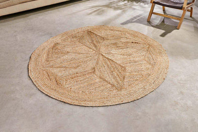 Nkuku RUGS Braided Hemp Patterned Rug