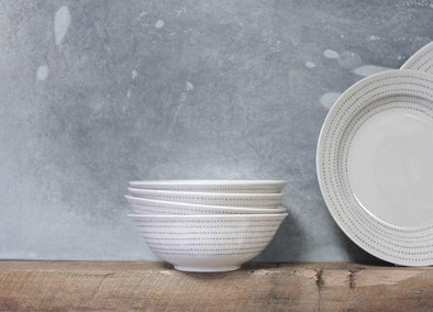 Nkuku TABLEWARE Bria Ceramic Bowl - Grey