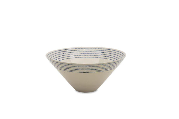 Nkuku TABLEWARE Bria Ceramic Serving Bowl - Indigo
