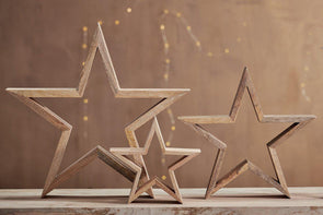 Nkuku DECORATIVE ACCESSORIES Chana Mango Wood Star