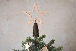 Nkuku CHRISTMAS DECORATIONS Chana Mango Wood Tree Topper