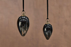 Nkuku CHRISTMAS DECORATIONS Danoa Giant Bauble Drop - Aged Smoke & Black