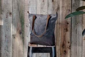 Nkuku BAGS Dara Canvas And Leather Shopper