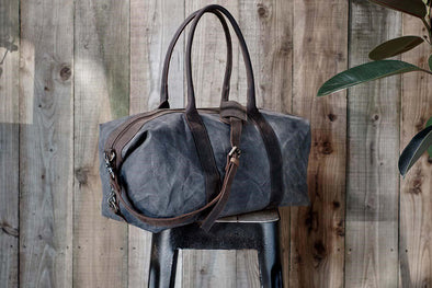 Nkuku BAGS Dara Canvas And Leather Weekend Bag