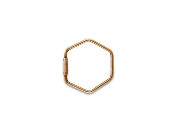 Nkuku DESK ACCESSORIES Dayla Brass Keyring