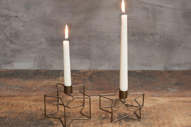 Nkuku CANDLE STICKS Derwala Star Candlestick