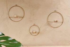 Nkuku LANTERNS & T-LIGHTS Derwala Wall Hung T-Light