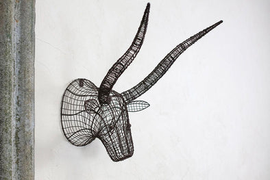 Nkuku DECORATIVE ACCESSORIES Eko Wire Bull Head
