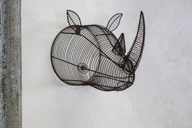 Nkuku DECORATIVE ACCESSORIES Eko Wire Rhinoceros Head