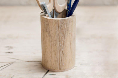 Nkuku DESK ACCESSORIES Hansa Wooden Pen Pot