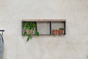 Nkuku FURNITURE Hasa Industrial Wall Hung Shelf