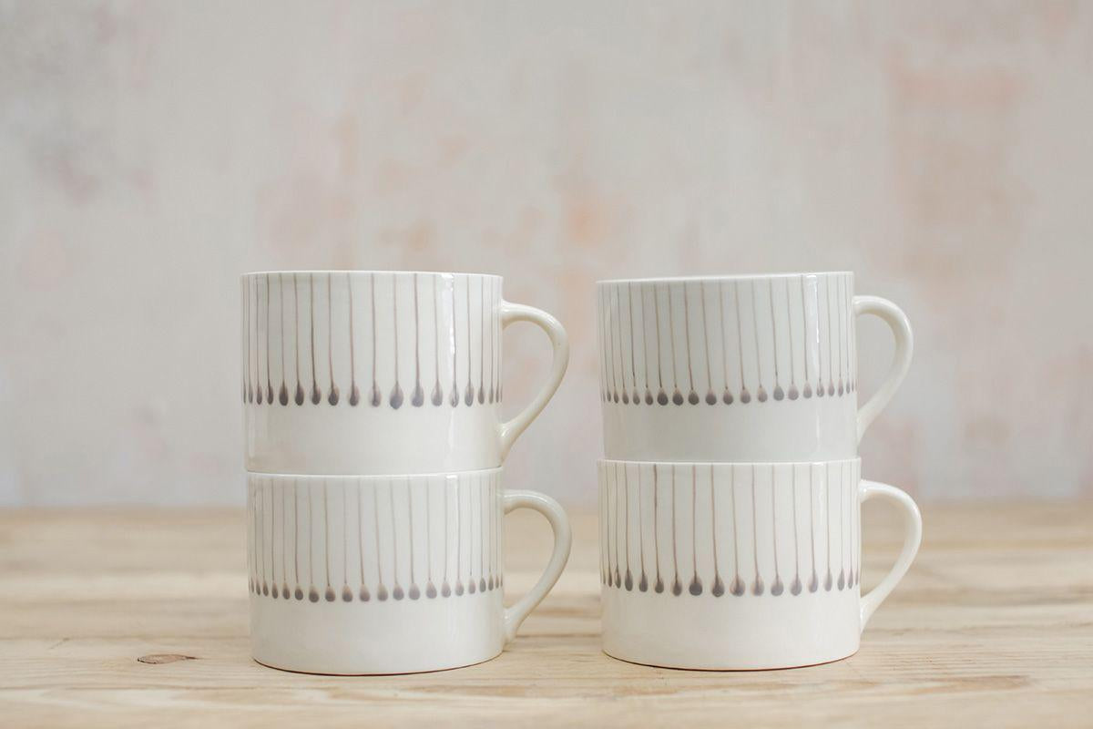 Nkuku TABLEWARE Iba Ceramic Grey Mug