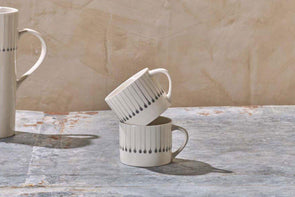 Nkuku TABLEWARE Iba Ceramic Mug - Small Grey (Set of 2)