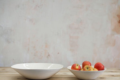 Nkuku TABLEWARE Iba Ceramic Serving Bowl Grey