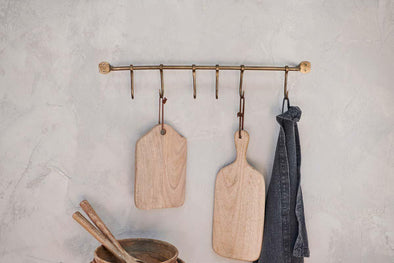 Nkuku HOOKS & KNOBS Ikoma Hook Set - Antique Brass