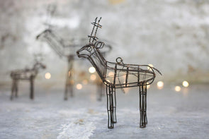 Nkuku CHRISTMAS DECORATIONS Ineko Wire Reindeer