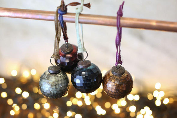 Nkuku CHRISTMAS DECORATIONS Isala Baubles - Set Of 4