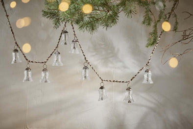 Nkuku CHRISTMAS DECORATIONS Jai Glass Bell Garland
